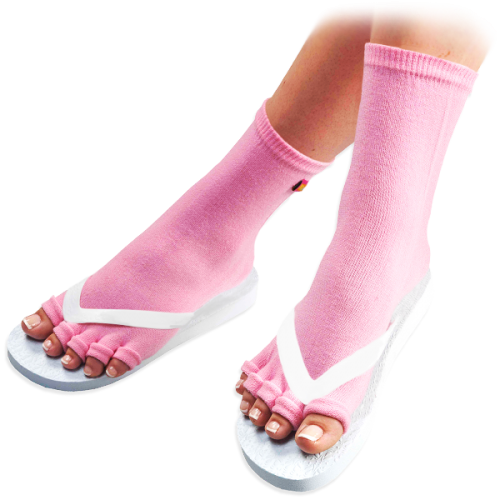 Pink Pedicure Socks