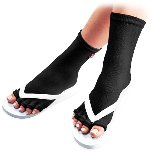 Black Pedicure Socks