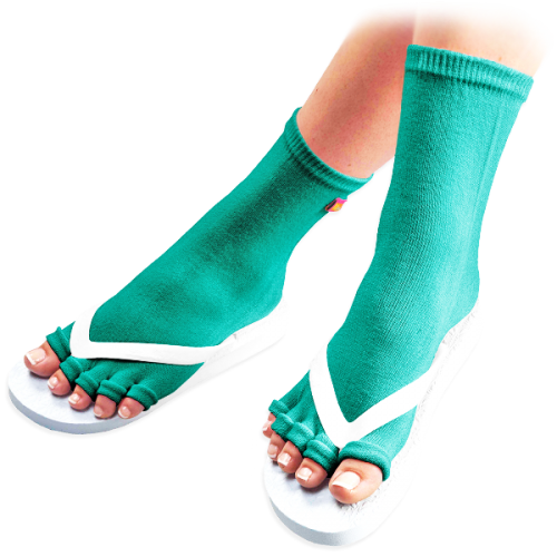 Teal Pedicure Socks