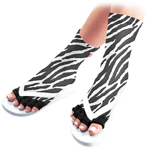 Zebra Pedicure Socks