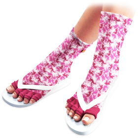 Ruby Trooper Pedicure Socks