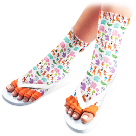 Zoo Time Pedicure Socks