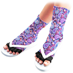 Purple Paisley Pedicure Socks