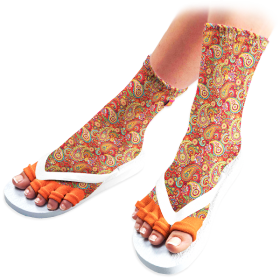 Perfect Paisley Pedicure Socks
