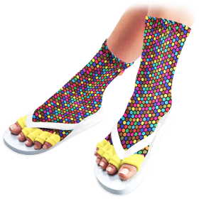 Disco Diva Pedicure Socks