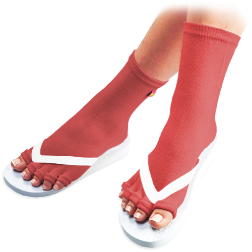 Red Pedicure Socks