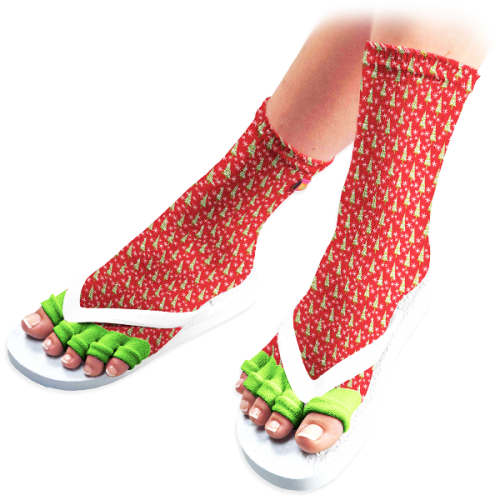 Christmas Tree Pedicure Socks