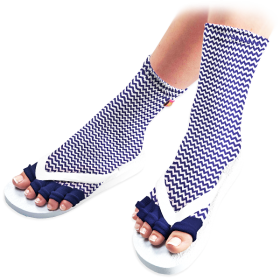 Wave Craze Pedicure Socks