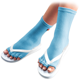 Carolina Blue Pedicure Socks