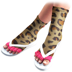 Cheetah Pedicure Socks